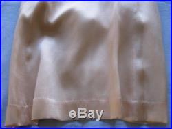 Vtg Lingerie Slip Dress French Silk Alencon Lace Trim Vtg Hand Done 1930's Excel