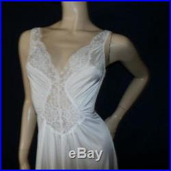 Vtg STRETCH Top Lace L Full Sweep Dress Gown Slip Nightgown Peignoir Robe Set XL