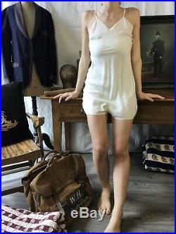 Vtg silk playsuit 1920's silk slip Antique silk dress Vtg French Silk Playsuit