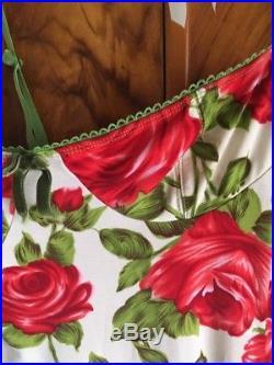 Wheels & Doll Baby Vintage Dollbaby Garden Of Eden Rose Dress S M 8 10 Slip