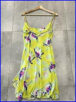 Womans Vintage Gianni Versace Couture Silk Bias Cut Floral Motif Dress Size 42