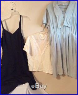 Women's 23 Pc. 1940's 50's 60's Vintage Clothes Lot Dresses Blouses Slips Blazer
