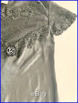 Womens Christian Dior Long Black Sleeveless Dress Silk Slip Vintage Sz Small