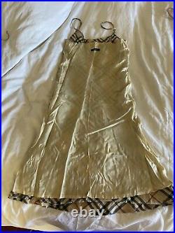 Womens Vintage Burberry Nova Check Slip Dress US 2/4 Authentic Chic! ICONIC 90s
